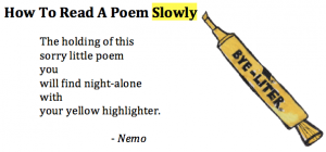 How to Read a Poem Slowly - edited